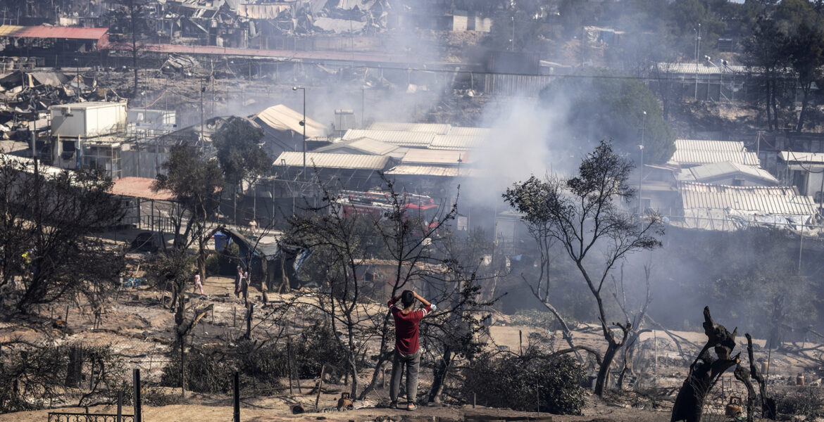 One witness named five of the six Afghans that burnt Moria migrant camp 1