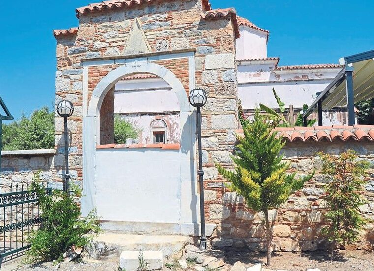 Entrance to historic Greek church in Turkey was illegally walled up to block entrance 2