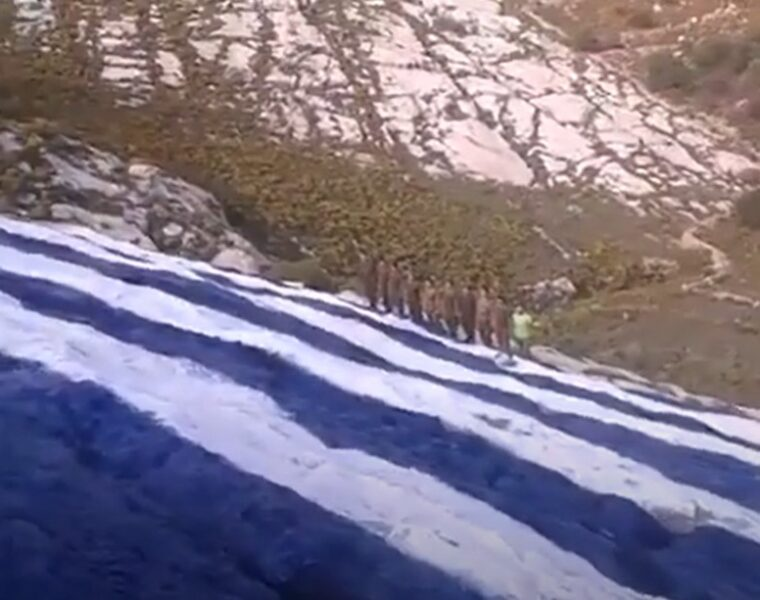 Greek flag desecrated by red paint on Kastellorizo is fully restored (VIDEO) 2