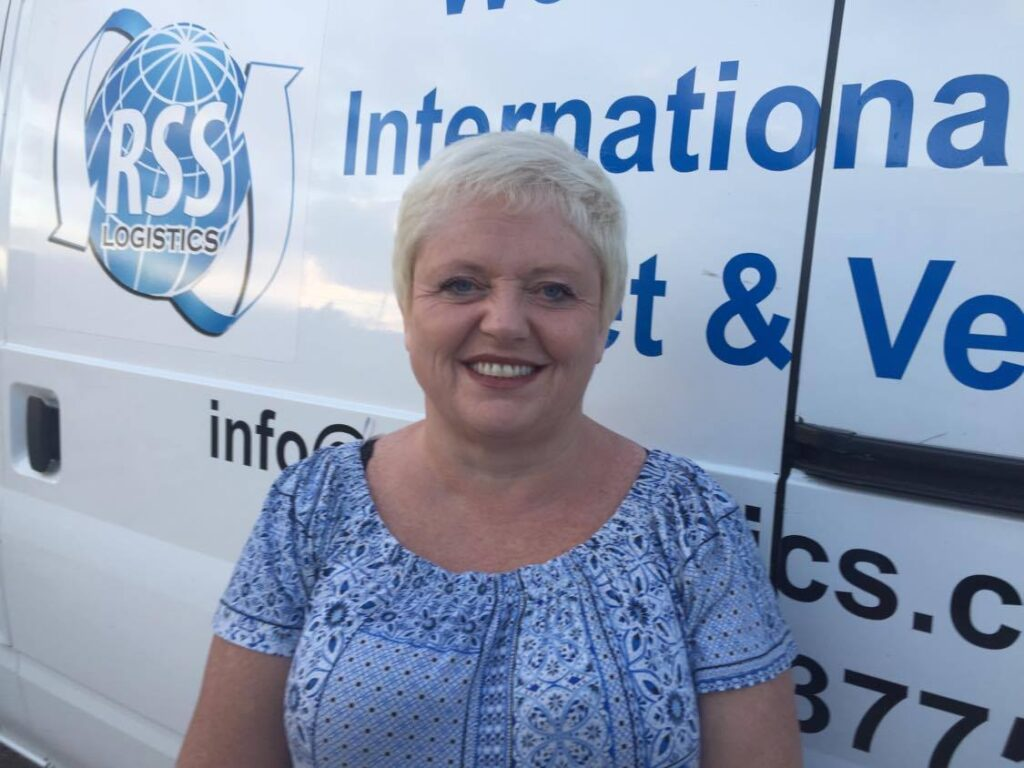 SME Manager of British-owned removal firm RSS Logistics Andrea Thorne