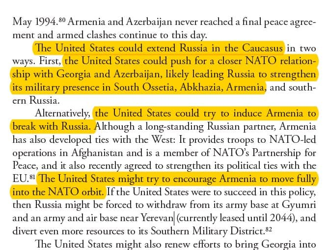 """US Air Force-affiliated think tank calls for Washington to """"Exploit Tensions in the South Caucasus"""" where Armenia is 4"""