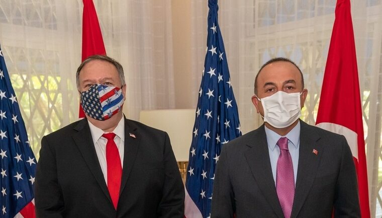 US Secretary Of State Pompeo and Turkish Foreign Minister Çavuşoğlu discuss the Eastern Mediterranean