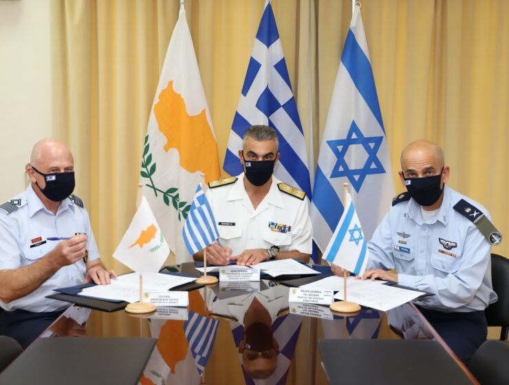 Greece-Cyprus-Israel sign the tripartite military cooperation program for 2021 2