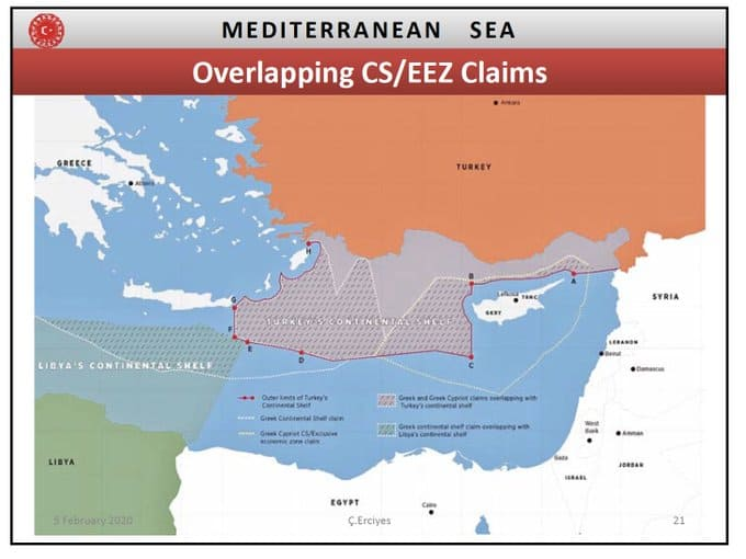 Maps expose how Turkey's historical claims in the East Mediterranean continually become bigger 12