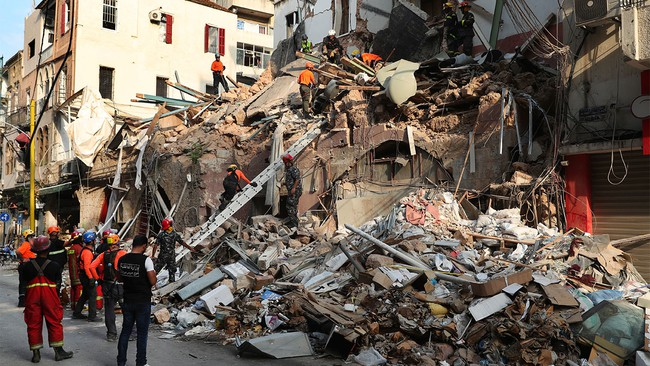 Signs of life under Beirut rubble a month after explosion