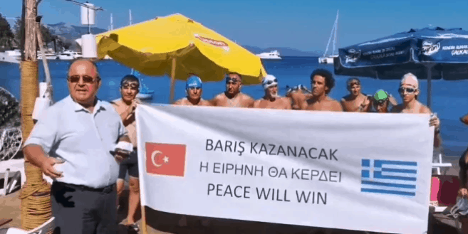 """""""Peace will win"""": The message written on a banner in a Turkish town"""