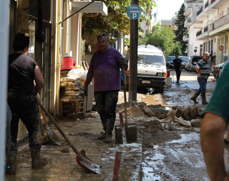 Cyclone Ianos repairs underway in Karditsa
