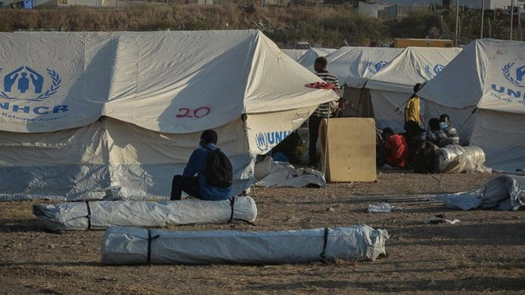 6% of the 12,500 homeless Moria camp residents rehoused