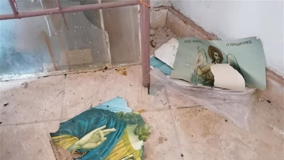 Illegal immigrants again vandalise Greek Orthodox Church of Agios Georgios in Lesvos