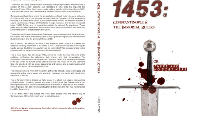 Billy Cotsis launches new book set in 1453 Constantinople