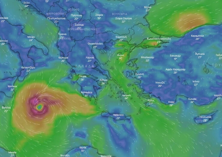 Rare cyclone 'Ianos' is on track to hit Greece