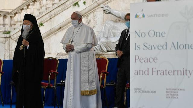 Ecumenical Patriarch Bartholomew attends the International Meeting of Prayer for Peace