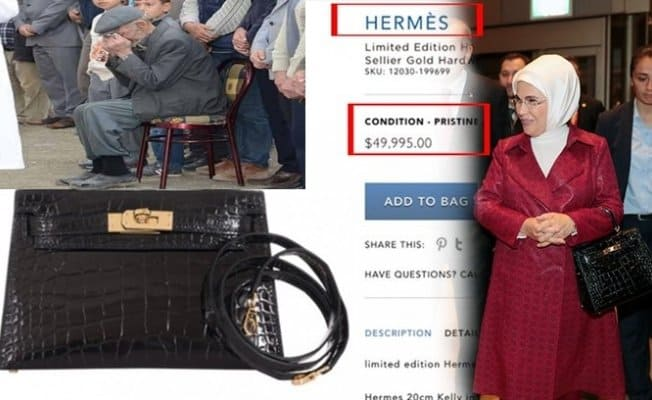 Although Erdoğan calls for boycott of French products, his wife poses with a Hermès bag 3