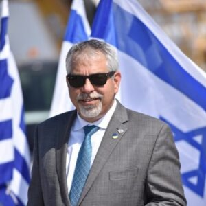 Israeli Foreign Ministry Spokesperson Lior Haiat Israel greek flag greece