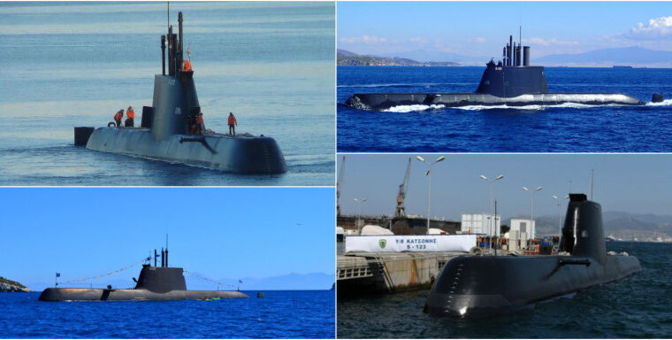 These are the four Greek submarines that Turkey fears 1