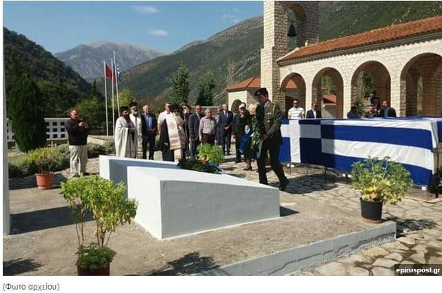 Oxi Day commemoration in Northern Epirus. military albania
