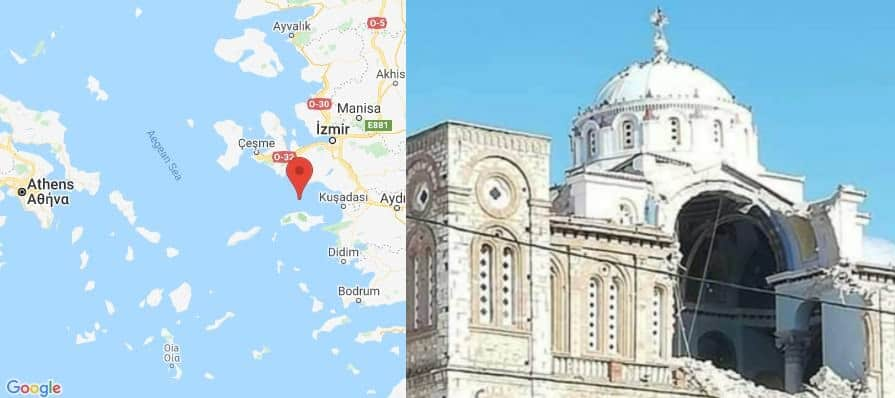 Earthquake near Samos island rocks Greece and Turkey, church collapses 1