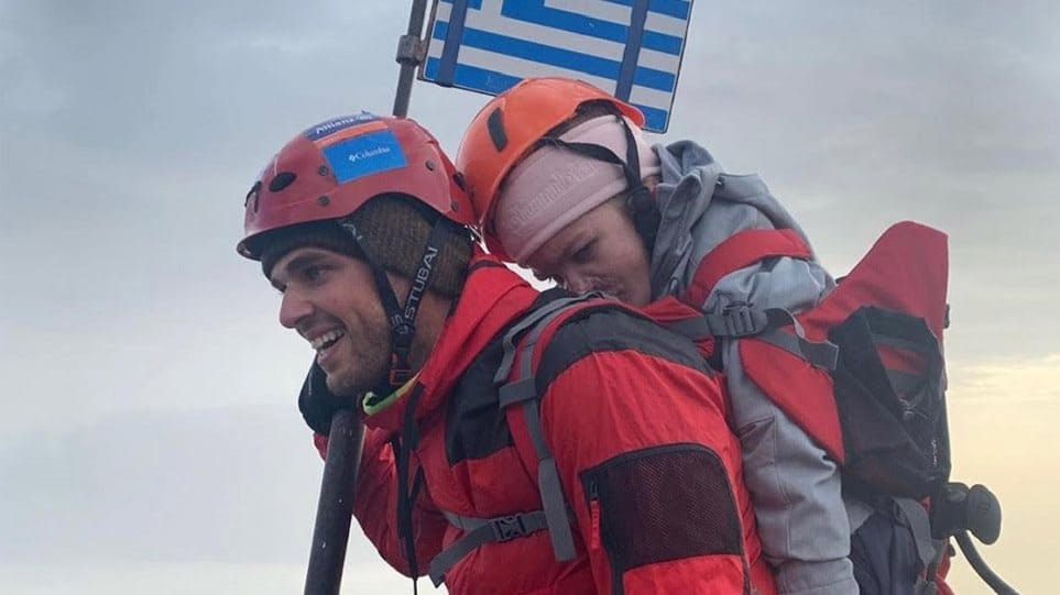 Greek athlete carries disabled student to the peak of Mount Olympus 1