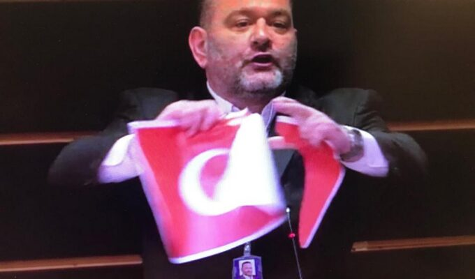 Former Golden Dawn MEP may have his European immunity waivered for tearing Turkish flag 3