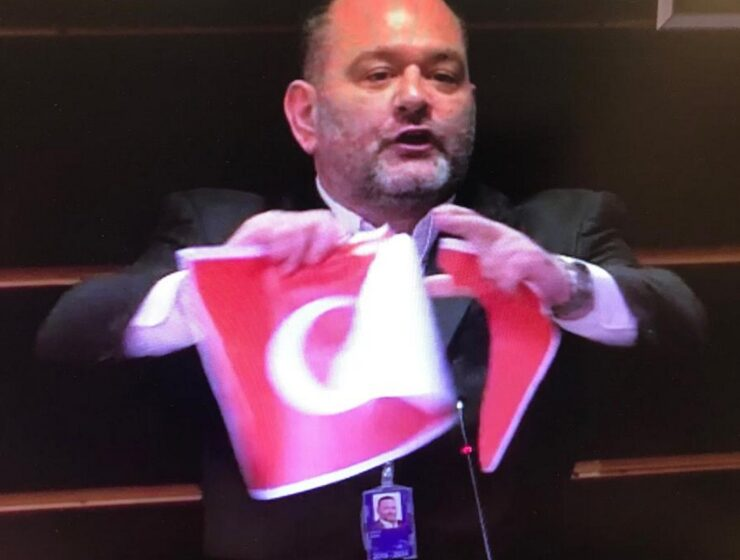 Former Golden Dawn MEP may have his European immunity waivered for tearing Turkish flag 1