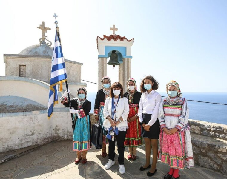 Greek President visits Karpathos for the 76th anniversary of the island's liberation