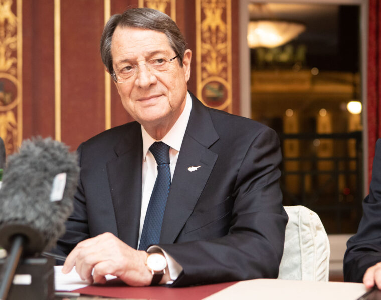 Cypriot President is determined to restart talks with newly elected Turkish Cypriot leader Tatar