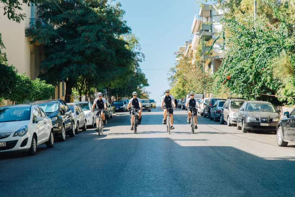 Athens plice electric bicycles