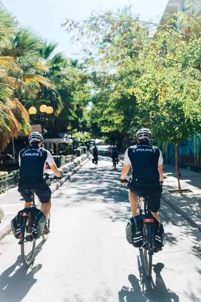 Athens police electric bicycles