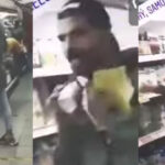 Illegal immigrant licks yogurt package and puts it back in the fridge of Samos supermarket (VIDEO) 2