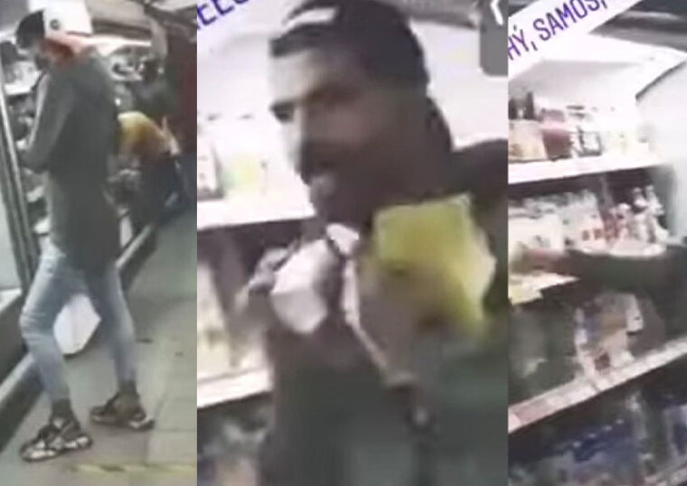 Illegal immigrant licks yogurt package and puts it back in the fridge of Samos supermarket (VIDEO) 1