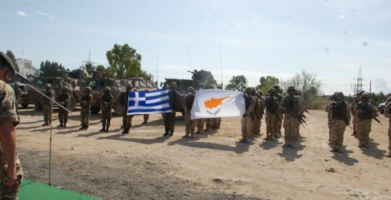Greek National Guards from Thrace training in Cyprus.