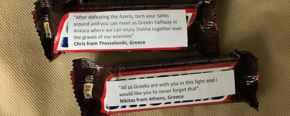 Why are Greeks sending Snickers with messages attached to Armenian soldiers on the front lines? (PHOTOS) 19