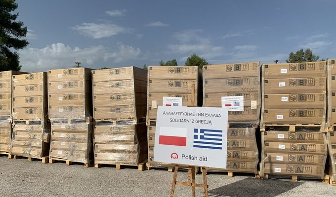 Poland sends 156 mobile housing units to accomodate refugees in Greece