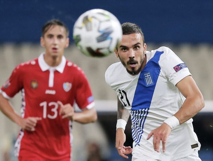 Greece beats Moldova in Nations League Match