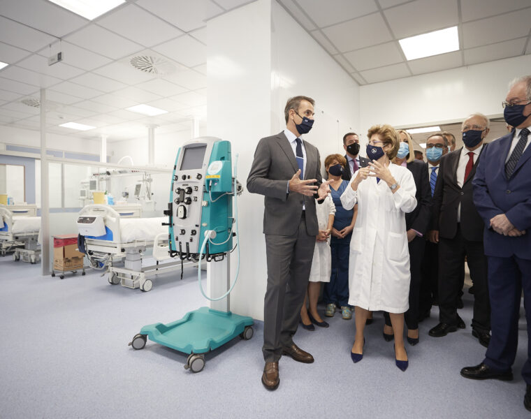 Greek PM attends the inauguration ceremony for 50 additional ICU beds at Sotiria Hospital