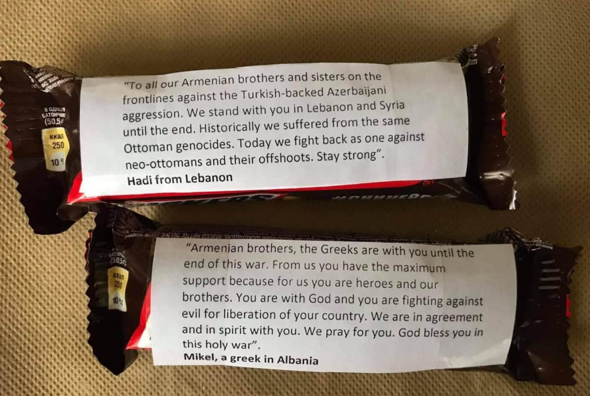 Why are Greeks sending Snickers with messages attached to Armenian soldiers on the front lines? (PHOTOS) 16