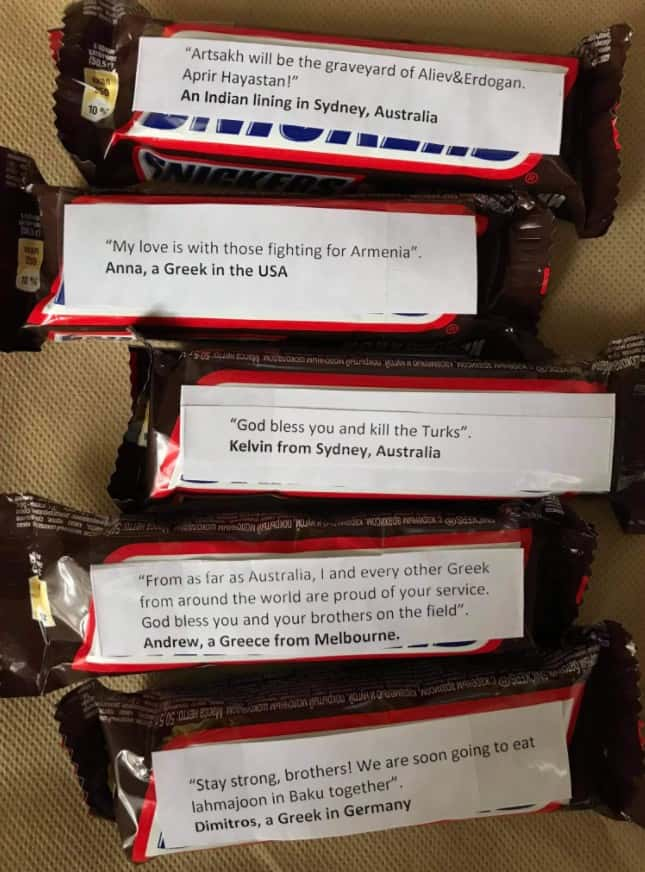 Why are Greeks sending Snickers with messages attached to Armenian soldiers on the front lines? (PHOTOS) 18