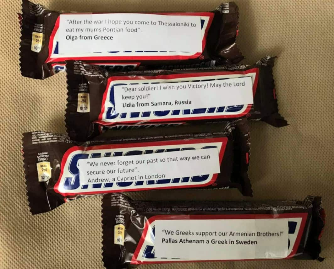 Why are Greeks sending Snickers with messages attached to Armenian soldiers on the front lines? (PHOTOS) 14
