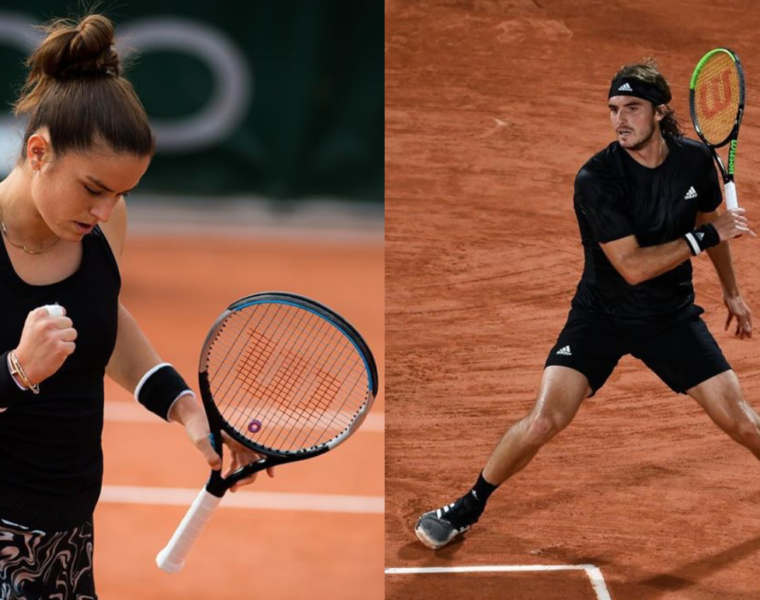 Tsitsipas and Sakkari progress at French Open