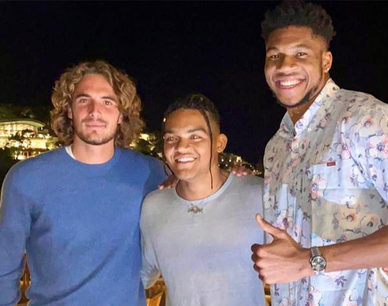 Three top Greek athletes hang out in Athens