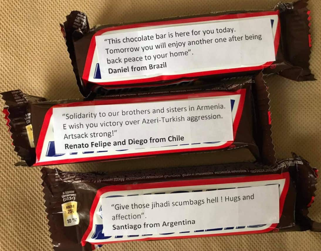 Why are Greeks sending Snickers with messages attached to Armenian soldiers on the front lines? (PHOTOS) 20