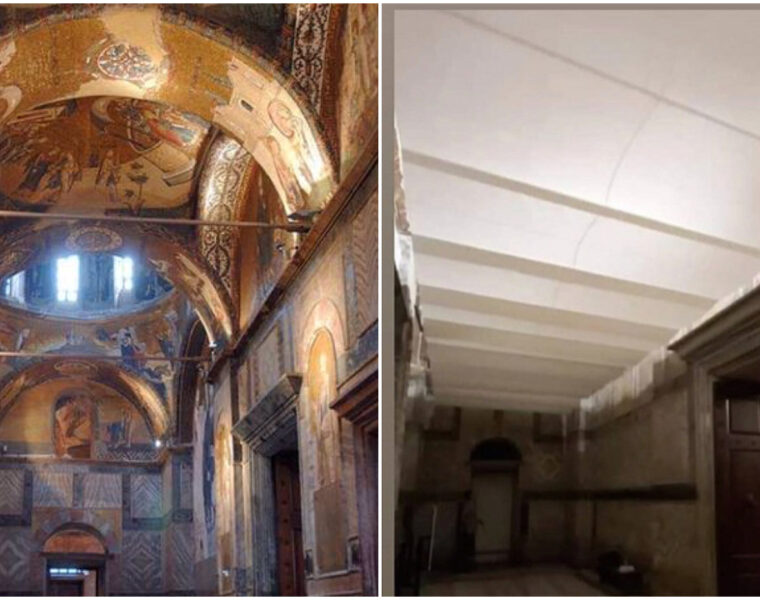 urkish Authorities Cover Priceless Byzantine Frescoes at Chora