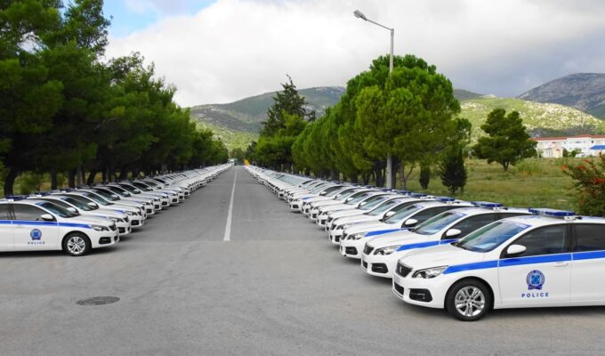 Greek police Peugeot cars