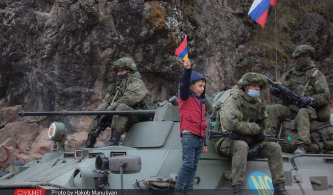 Russian peacekeepers in Artsakh.