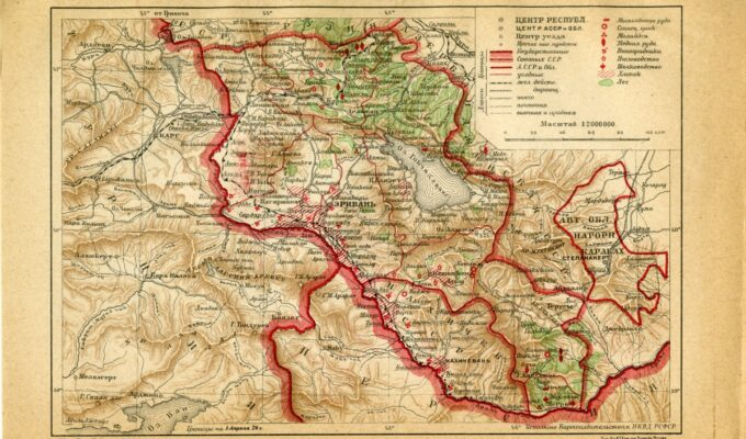 Historical map of Armenia and Nagorno-Karabakh (Artsakh)