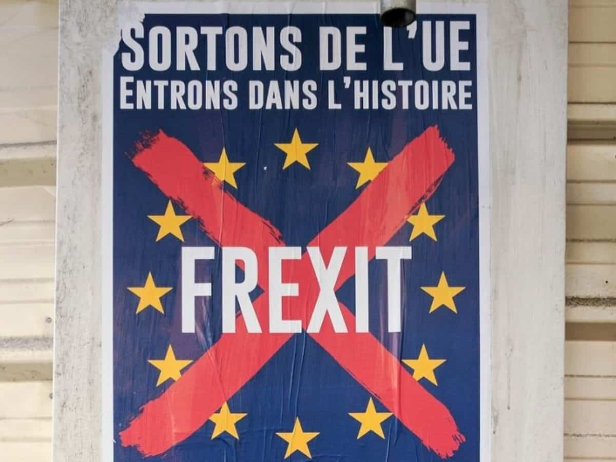 Frexit France exit French from EU