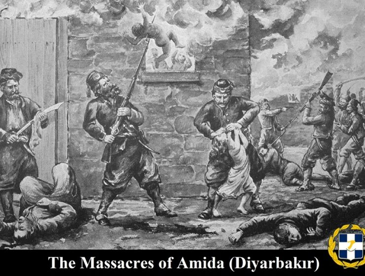 Amida Sketch by an eye-witness of the massacre of Armenians during the Hamidian massacres Greek Turkey ottoman
