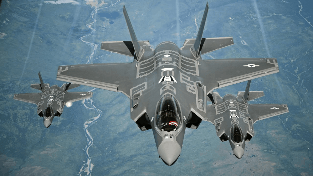 F-35 fighter jets.