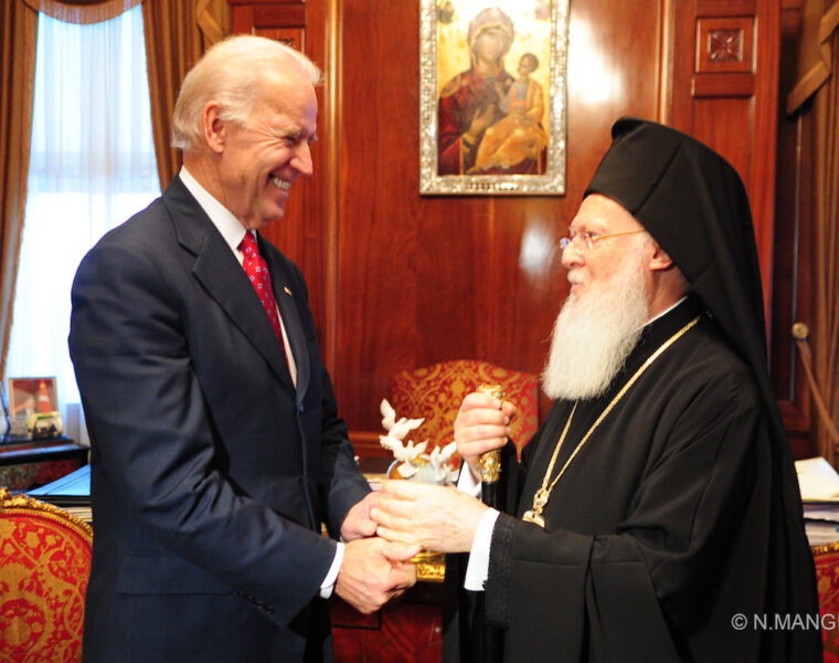 Ecumenical Patriarch Bartholomew congratulates Joe Biden on his victory