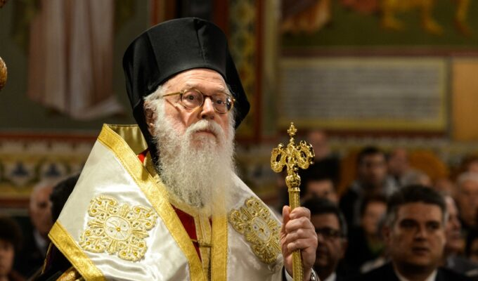 Greek The Archbishop of Tirana, Durres and All Albania, Anastasios.